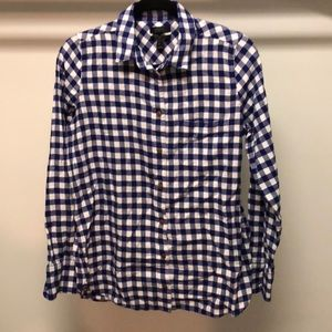 J.Cree Boy Shirt, Plaid Flannel, Blue, 6